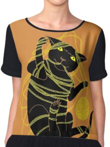 Crafty Cat Meant to do That Women's Chiffon Top