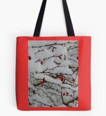 Berries on Snow Tote Bag