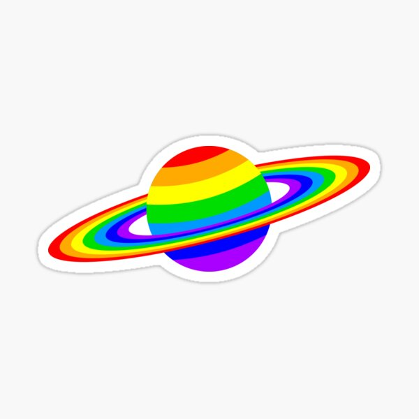 Rainbow Planet Sticker