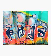 Graffiti design 2 - by Ana Canas Photographic Print