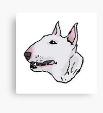 Bull Terrier (Subject 8) Canvas Print