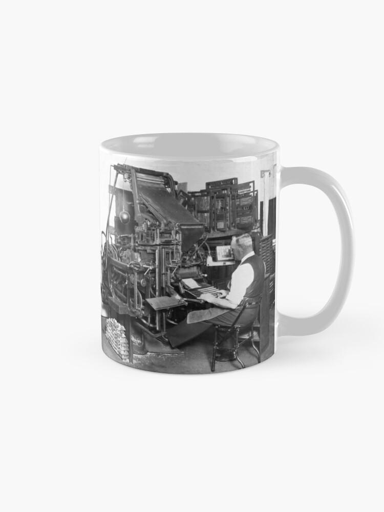 Alternative Ansicht von Linotype Setzmaschinen Tasse