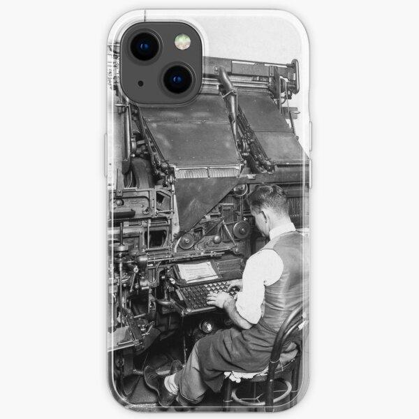 Linotype Setzmaschinen iPhone Flexible Hülle