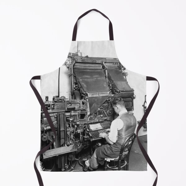 Linotype Setzmaschinen Schürze