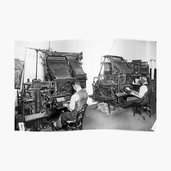 Linotype Setzmaschinen Poster