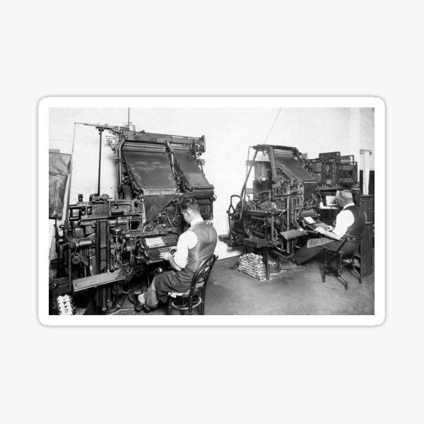 Linotype Setzmaschinen Sticker