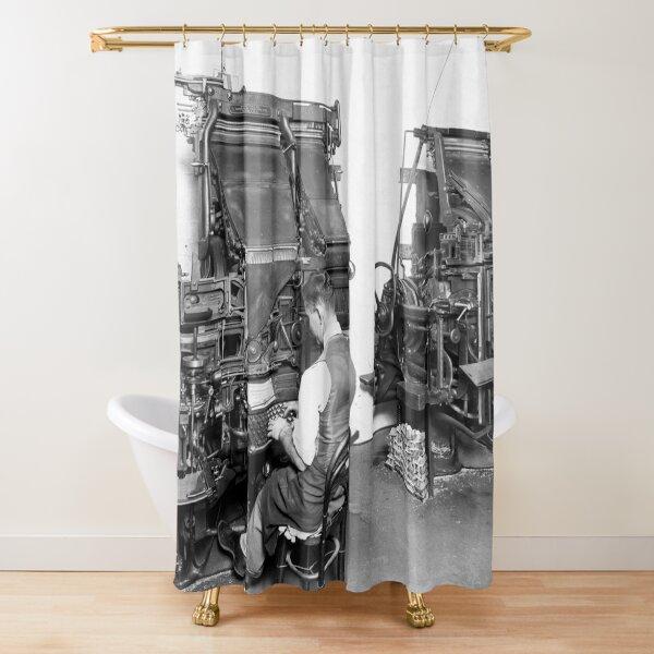 Linotype Setzmaschinen Duschvorhang