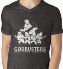 GODBUSTERS Men's V-Neck T-Shirt