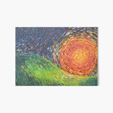 Red Moon On The Palouse Art Board Print