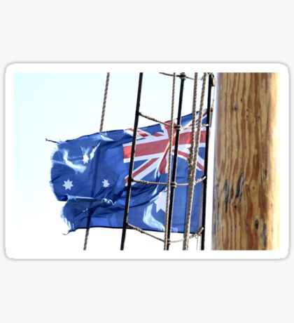 Flag on a Rope Sticker