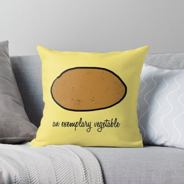An Exemplary Vegetable Throw Pillow