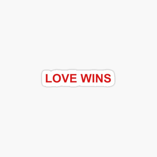 LOVE WINS STICKER Sticker