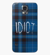 Funda/vinilo para Samsung Galaxy IDIOT (Franela azul)