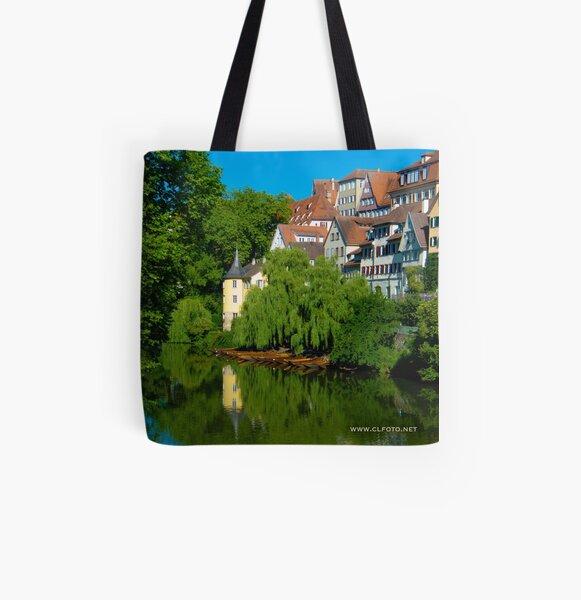 Höderlin Tower, Tübingen, Germany All Over Print Tote Bag