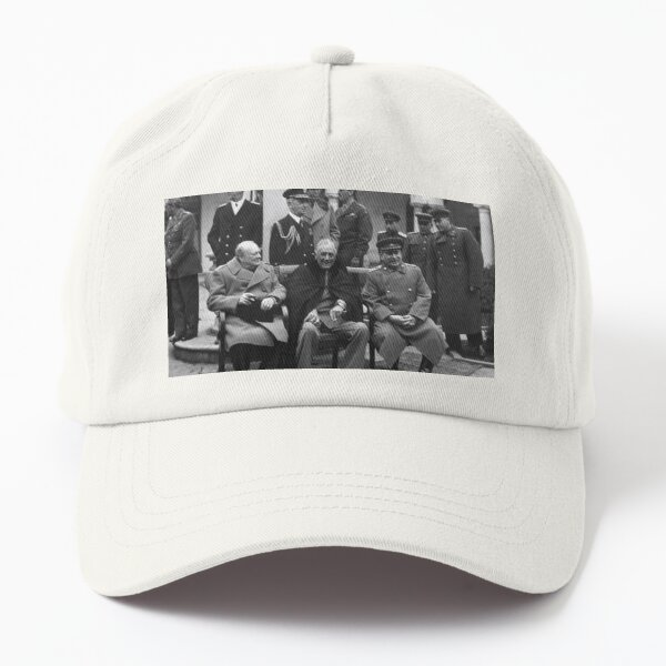The Big Three at the Yalta Conference: Winston Churchill, Franklin D. Roosevelt, and Joseph Stalin Dad Hat