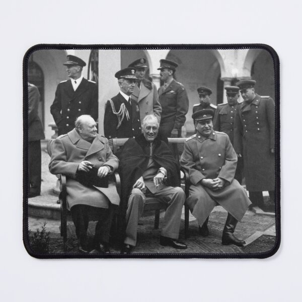 The Big Three at the Yalta Conference: Winston Churchill, Franklin D. Roosevelt, and Joseph Stalin Mouse Pad