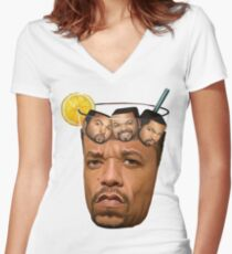 Ice T & Ice Cube Women's Fitted V-Neck T-Shirt