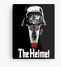 The Helmet-Godfather of the Dark Schwartz Metal Print
