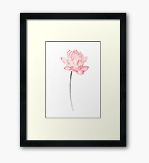 Lotus Illustration Abstract Flower Watercolor Painting Drawing Poster Framed Print