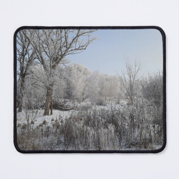 Winter Frost Brush Mouse Pad