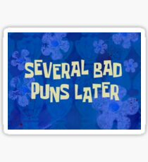 Spongebob Puns Time Card Sticker