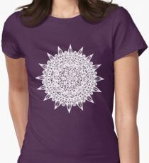 White Star Mandala Design Womens Fitted T-Shirt