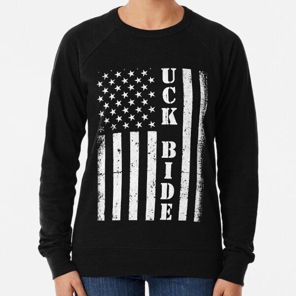 FUck Biden America Flag  Lightweight Sweatshirt