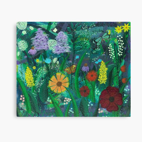 Among The Wild Flowers Canvas Print