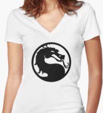 Mortal Dragon Women's Fitted V-Neck T-Shirt