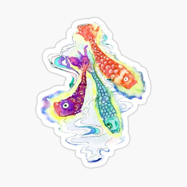 Fish Lanterns Sticker