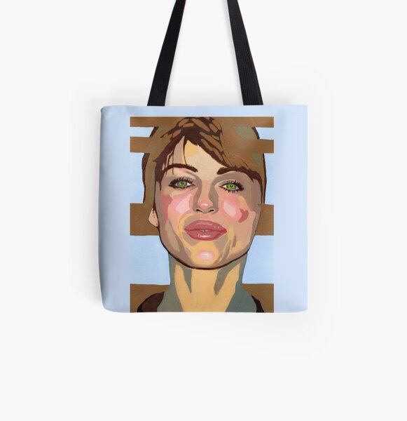My mind forms the point of convergence of your historical lines of reference. (Liz Hurley) All Over Print Tote Bag