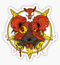 Royal Satanic Cheese Huffers Sticker