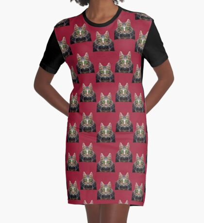 Imperial Boss cat Graphic T-Shirt Dress