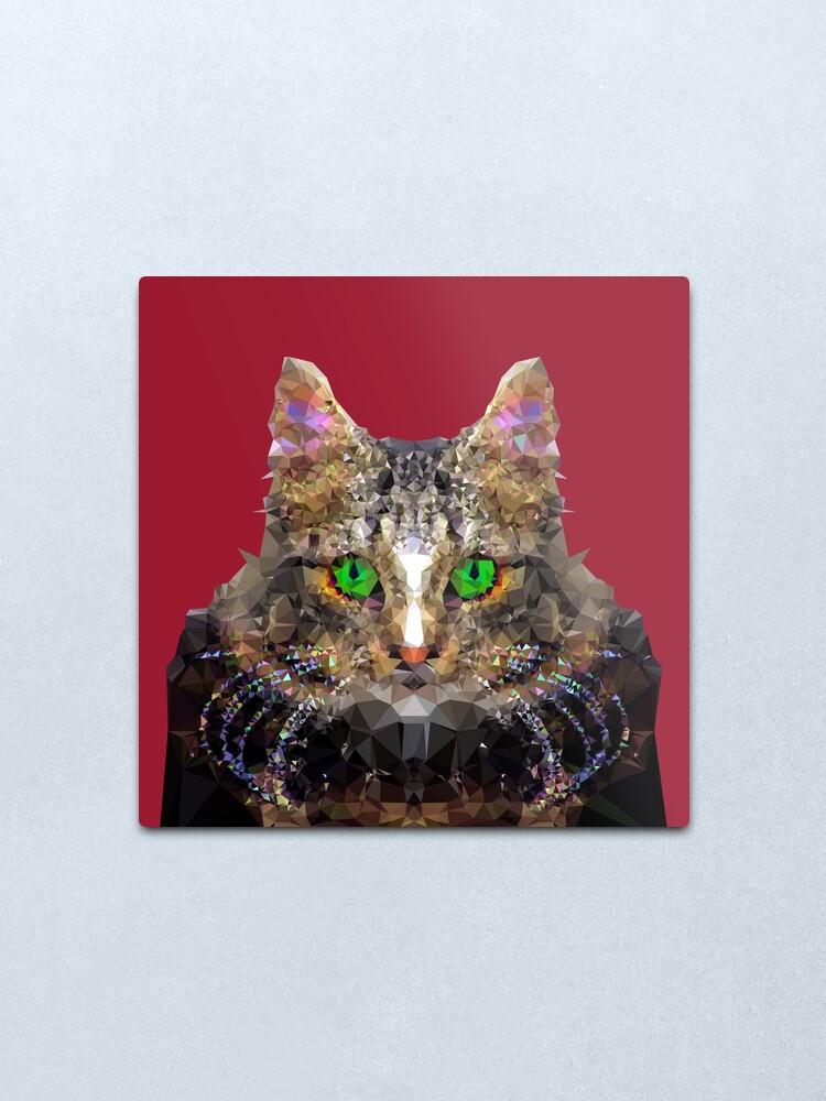 Alternate view of Imperial Boss cat Metal Print
