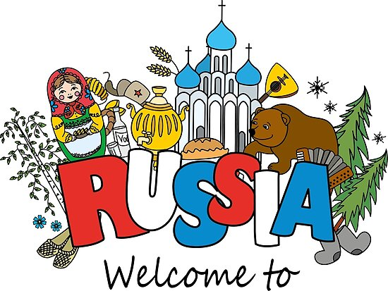 welcome to russia russian symbols by naum100