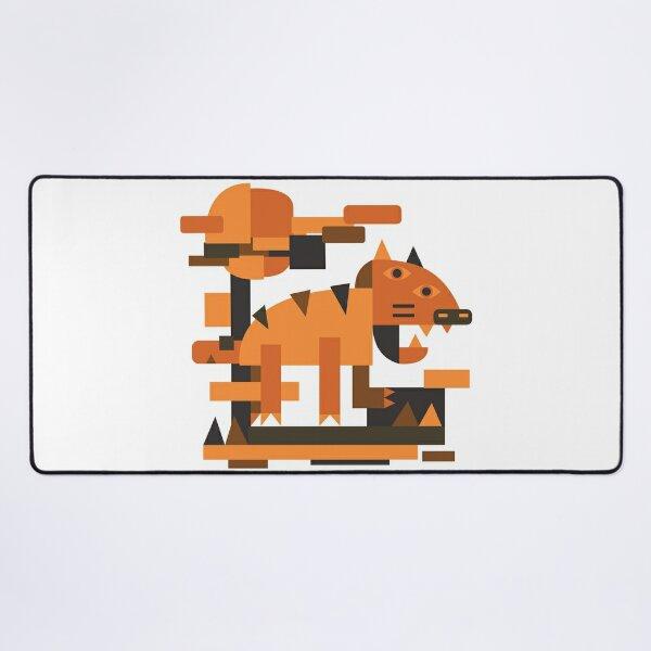 Tiger Cubism Desk Mat