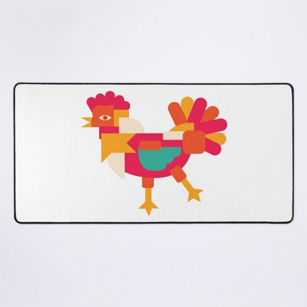 Chicken Cubism Desk Mat