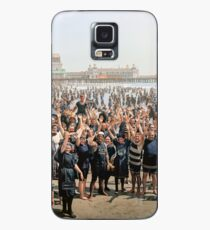 Hands up to the camera! on the beach at Atlantic CIty, NJ, 1905 Case/Skin for Samsung Galaxy