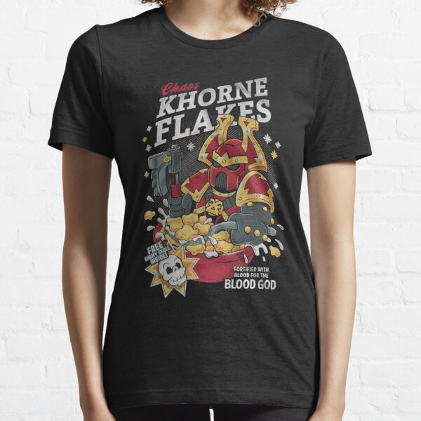 Chaos khorne flakes Fortified with blood for the blood god Essential T-Shirt