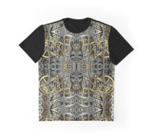 Steampunk Metal Gears Pattern Graphic T-Shirt