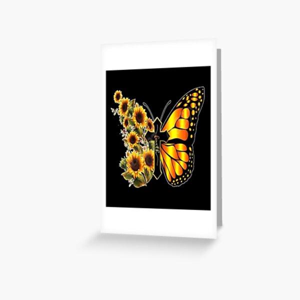 Sunflower Butterfly Faith Greeting Card