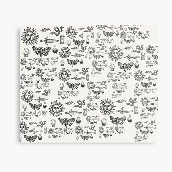 Witchy Pattern Metal Print