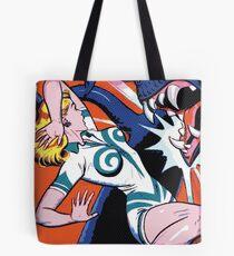 Comic Girl - 6 Pop Tote Bag
