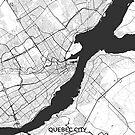 Québec Stadt Karte Grau von HubertRoguski