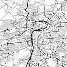 Prag Karte Grau von HubertRoguski