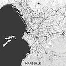 Marseille Karte Grau von HubertRoguski