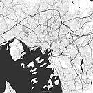 Oslo Karte Grau von HubertRoguski