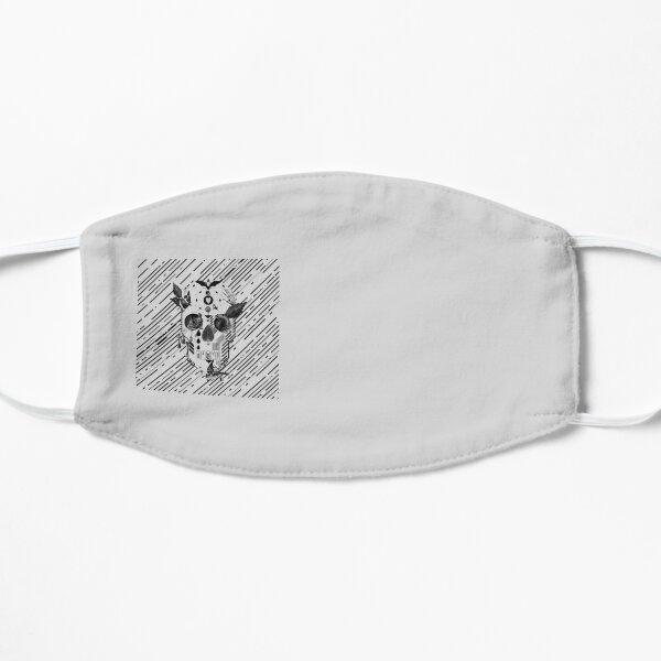 Abstract Skull B&W Flat Mask