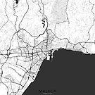 Malaga Karte Grau von HubertRoguski