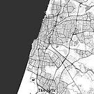 Tel Aviv Karte Grau von HubertRoguski